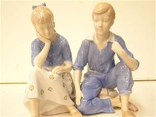 Handpainted figures of a couple