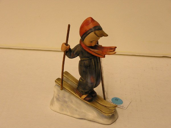 17: Hummel porcelain, Skiing Boy