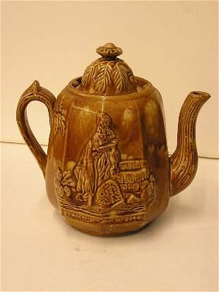 Rockinghamware teapot