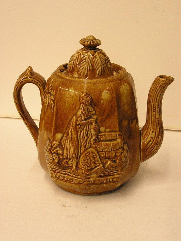 18: Rockinghamware teapot