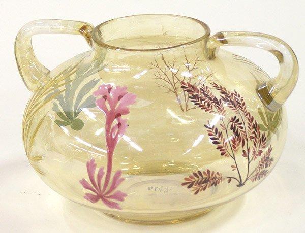 4001: Mt Washington Glass enameled vase