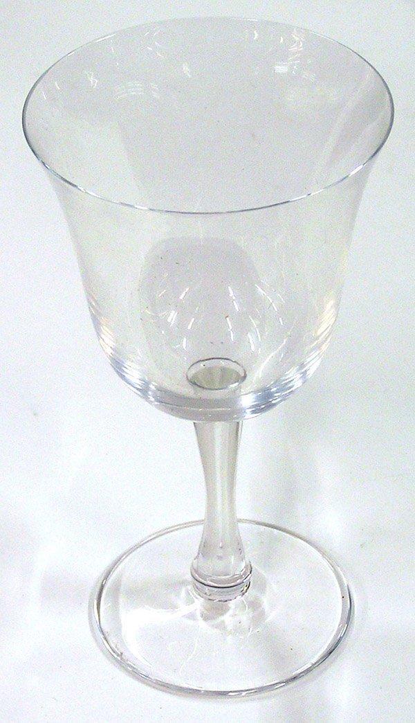 4002: Lalique crystal stemware