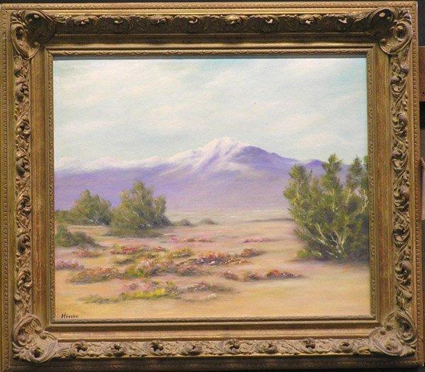 4019: Oil on canvas California desert