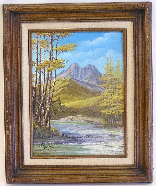 4022: Mountain steam landscape, Wright