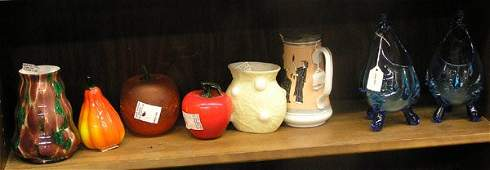 4131: Art Glass, Ironstone, Jersey Glass, Vases