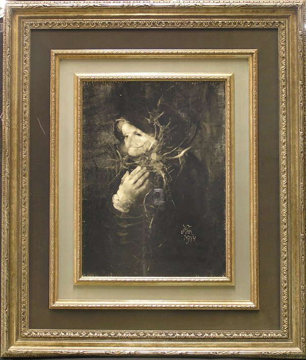 4273: Oil, Old Woman, Endre Szasz