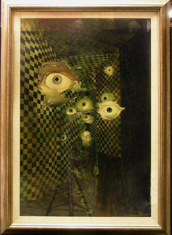 4312: Oil, labyrinth, Endre Szasz