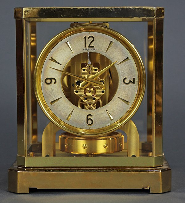 Jaegar Le Coultre Atmos brass mantel clock