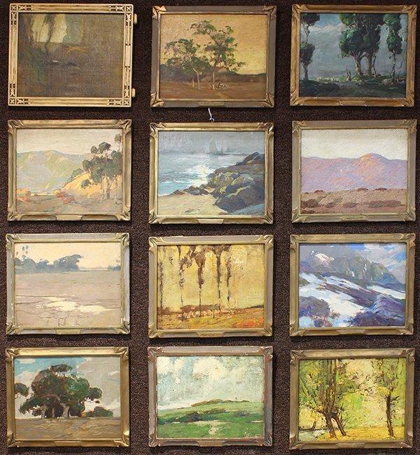 Set of 12 paintings by Karl Schmidt