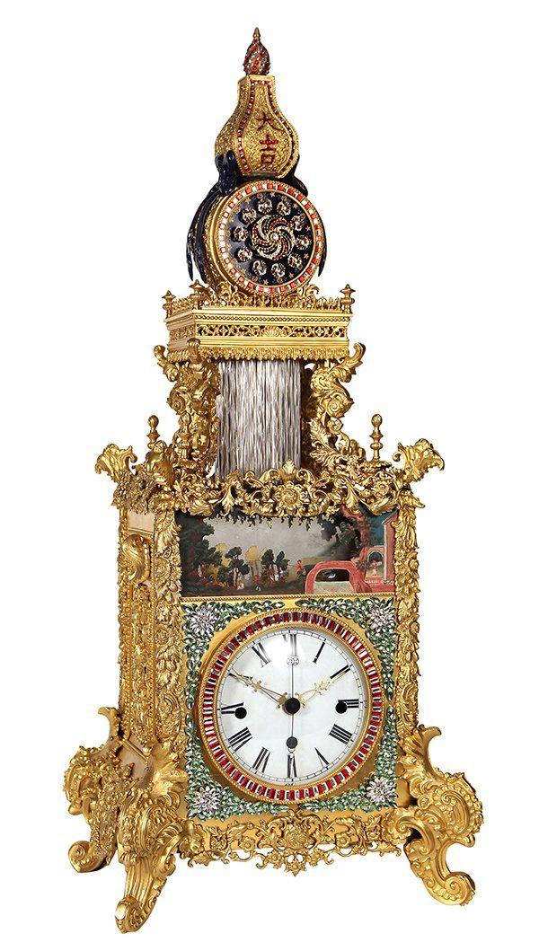 Rare and important Chinese Automaton bracket clock