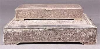 Persian/Iran .875 silver boxes, 29.11 troy oz.