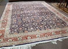 Chinese Part Silk Tabriz carpet, 12'3'' x 9'