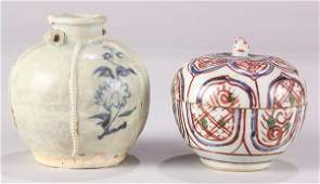 Chinese Porcelain Box and Jar