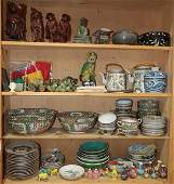 Four Shelves of Chinese Decorative Items