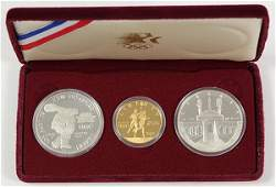 Olympic silver and gold proof set 19831984 including