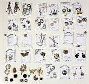 Collection of multistone 14k gold sterling silver