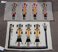 lot of 2 Navajo Yei rugs largest 2 x 211