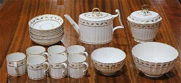 (Lot of 18) Royal Crown Derby porcelain tea service,