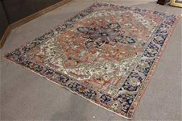Semi antique Persian Heriz carpet  122 x 9
