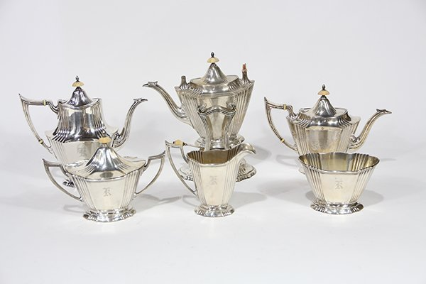 American William B. Durgin sterling silver six piece