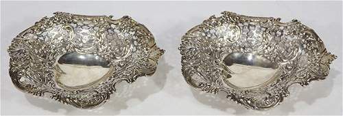 Pair of American Tiffany  Company sterling silver