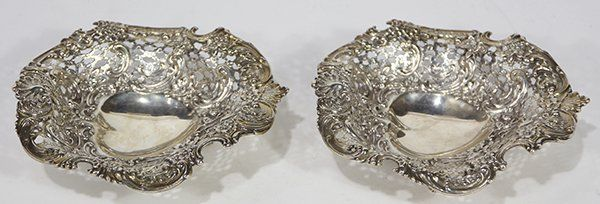 Pair of American Tiffany & Company sterling silver