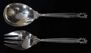 """Danish Georg Jensen sterling silver """"Acorn"""" pattern"""