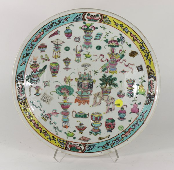 Chinese Porcelain Charger, Antiquities