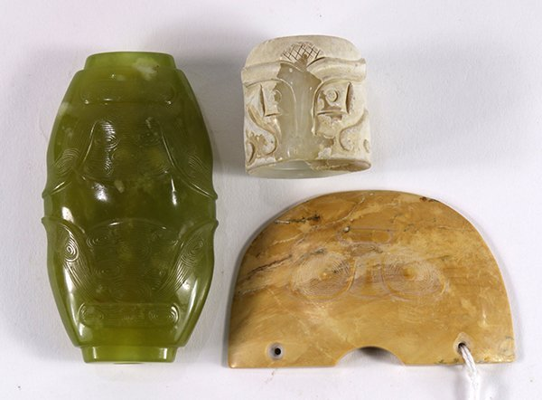 Group of Chinese Archaistic Stone Carvings
