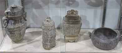 Chinese Archaistic Hardstone Decorative Items