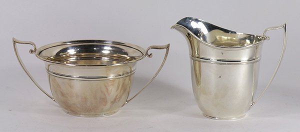 American Gorham sterling silver open sugar bowl and