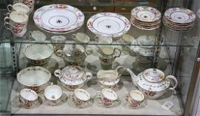 (Lot of 34) English porcelain possibly Royal Crown