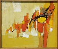 Painting Abstract in Oranges