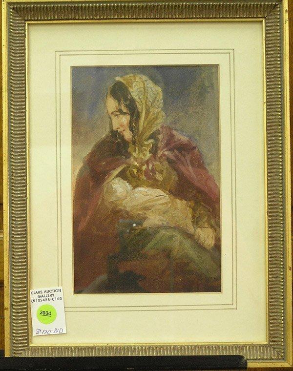 2004: Watercolor, European 19th century