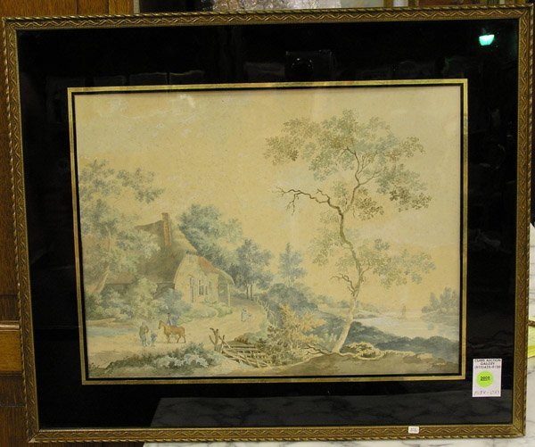 2008: Watercolor, Dutch 19th, landscape