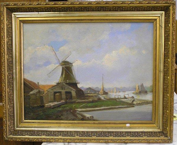 2010: Oil, A.v.d. Schaft, Dutch 20th century