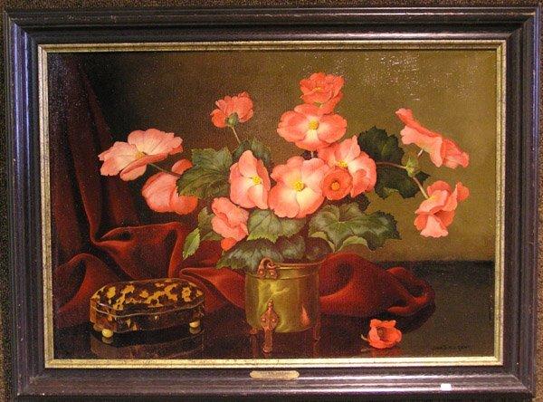 2011: Oil, J.B.N. van Gent, Dutch, floral