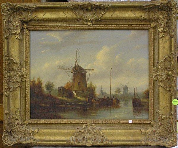 2012: Oil, A. Koster, Dutch 20th, landscape