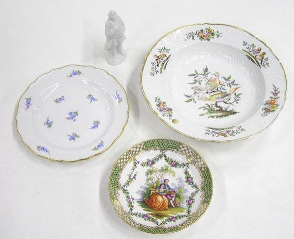 2021: Meissen porcelain; figurine, bowl
