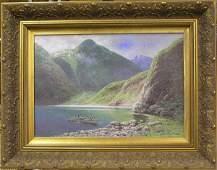 2133: Oil, Gribennikov, Russian, landscape