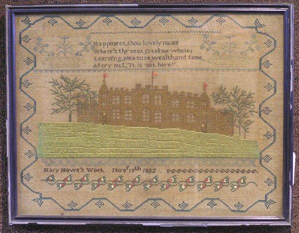 2312: Needlework sampler by Mary Howe, 1832