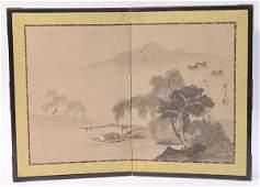 86: Japanese miniature landscape screen