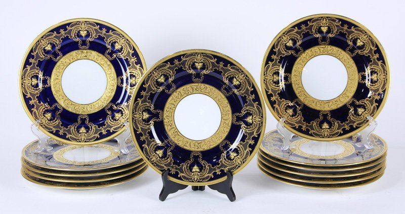 (Lot of 12) Wm. Guerin & Co. Limoges service plates