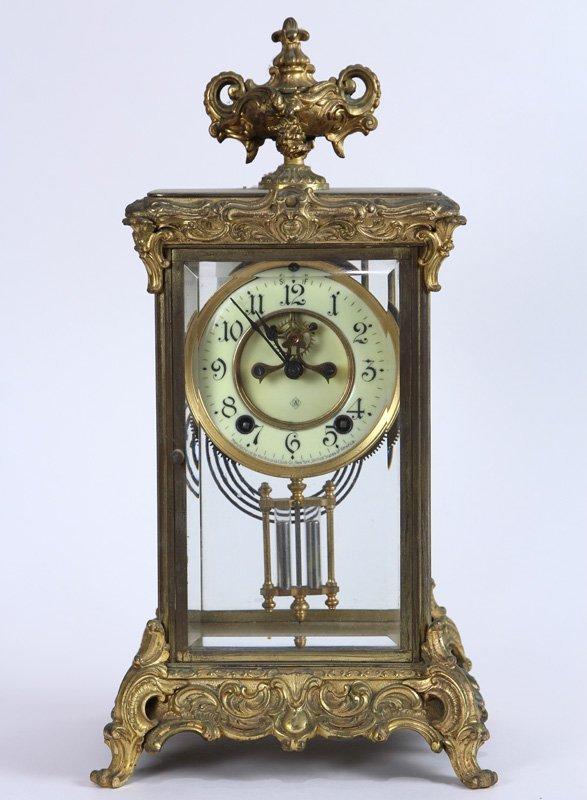 Ansonia gilt mantle clock