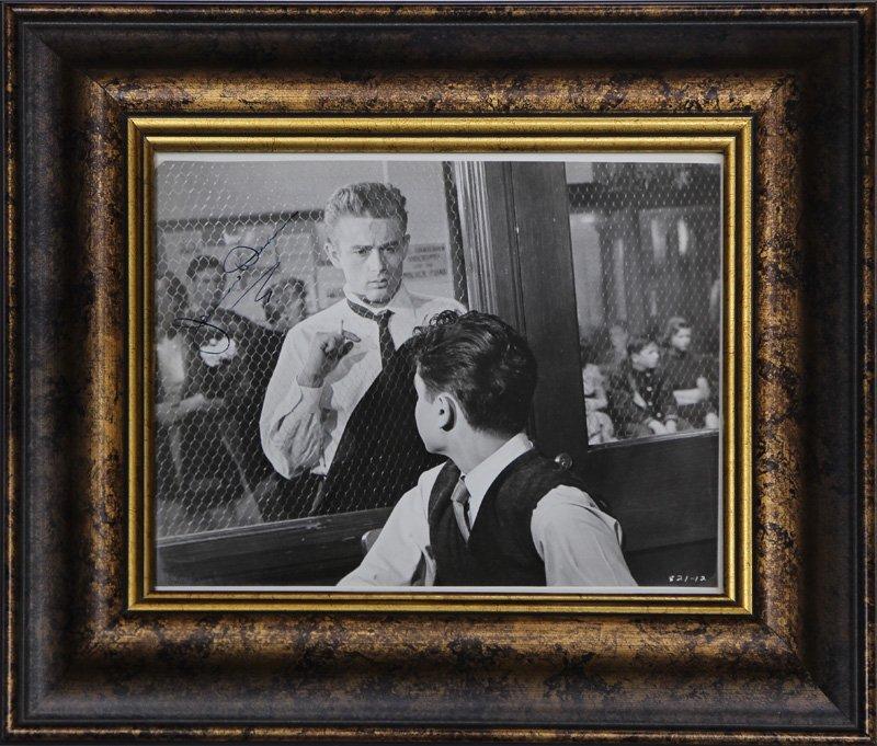 James Dean autographed black and white photograph,