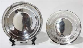 (lot of 2) American sterling silver group consisting of