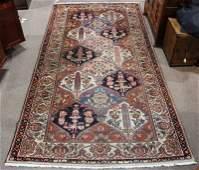 """Persian Bakhtiari rug, 5'6"""" x 10'6"""""""