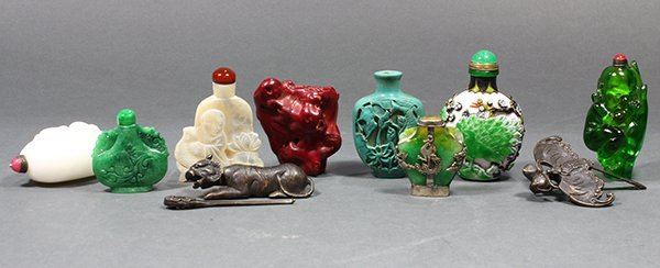 Group of Chinese Snuff Bottle and Decoratives