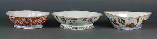 Chinese Footed Porcelain Dishes