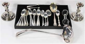 American sterling silver flatware group 13.99 troy oz.